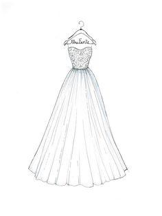 7 best wedding dress sketches images fashion sketches wedding Bike Sketch custom wedding dress sketch