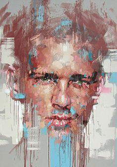 """""""Behind Castle Walls"""" - Jimmy Law, acrylic on canvas, 2015 {figurative… Abstract Portrait, Portrait Art, Jimmy Law, A Level Art, Gay Art, Artist Art, Figurative Art, Painting Inspiration, Painting & Drawing"""