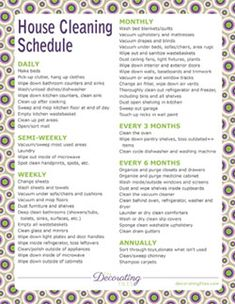 Free Printables...House Cleaning Schedule, Monthly Budget Worksheet, Daily Schedule, Weekly Meal Planner & Grocery List, and a Weekly Chore List. All printables to help you get organized.