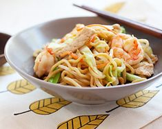 """Chow Mein: The """"Chow Mein"""" is Cantonese pronunciation. It means Fried Noodles. The Chinese invented noodles. Use 3 (5.6 oz) packages refrigerated Yaki Soba noodles (found in the produce section of the grocery store.. usually the 3 packages are sold together in one 17oz. pack)    http://rasamalaysia.com/chow-mein-chinese-noodles-recipe/2/"""