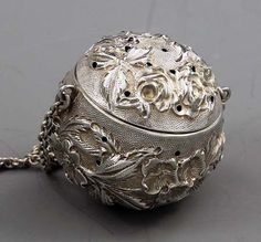 Jenkins and Jenkins Repousse Sterling Tea Ball