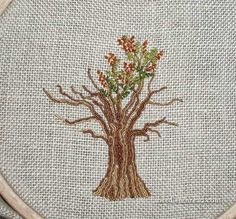 Embroidering Trees, Part 2:  The Leaves