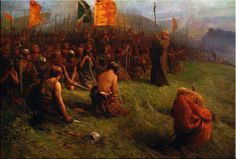 The Abbott of Incheffrery blessing the Scottish Army before the Battle of Bannockburn, painted in 1876 by James Drummond.