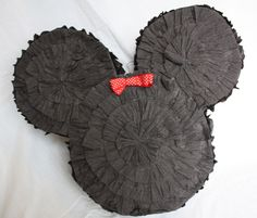 Mickey Minnie Mouse Party DIY Pinata out of a diaper box :) that is repurposing!