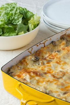 Cold Weather Recipe: Cheesy Chicken and Mushroom Lasagna — Recipes from The Kitchn | The Kitchn