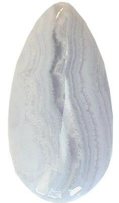 Blue Lace Agate 22x42mm Teardrop Cabochon