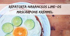 Pirított diós répatorta narancsos-lime-os mascarpone krémmel