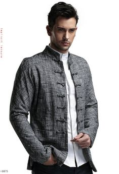 China's wind Tang suit Chinese tunic suit Men's cotton and linen spring coat