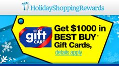 $1000 Best Buy Holiday Gift Card!