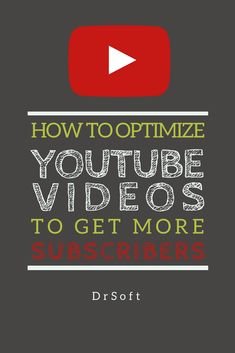 Ranking high on #YouTube search to get more views and subscribers means properly #optimizing YouTube #videos. #SEO #YouTubeSEO #videocontent #YouTubers Youtube Hacks, You Youtube, Youtube Secrets, Marketing Software, Social Media Marketing, Marketing Tools, Start Youtube Channel, Youtube Website, Videos