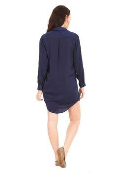 Ladies Shirt Dress http://www.ebay.co.uk/itm/Ladies-Shirt-Dress-Womens-Navy-Khaki-Summer-Plain-Blouse-Top-/261452795845