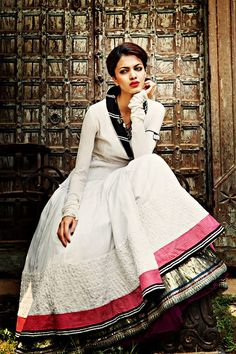 White, pink and black - now this is a great combination! -- Anju Modi