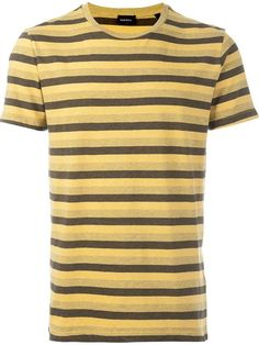 DIESEL Triple Stripe Print Fitted T-Shirt. #diesel #cloth #t-shirt