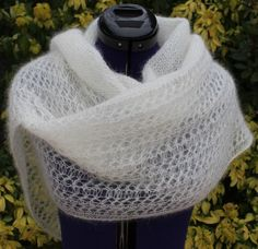 Crochet Scarves, Knit Crochet, Prayer Shawl, Crochet Wedding, Wedding Shawl, Knitting Accessories, Knitting Designs, Crochet Patterns, Scarfs
