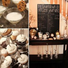 love the milk and cookies on martini glasses...or on another type of glass...just like the milk and cookies thing