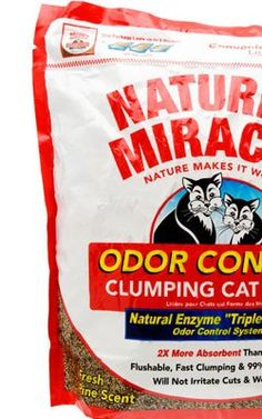 Mixing 1 part 'Nature's Miracle' litter with 1 part 'World's Best' is supposed to provide less dust (both are corn-based) and good odor control.