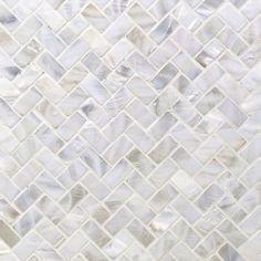 Ivy Hill Tile Pacif White Herringbone in. x 2 mm Pearl Shell Mosaic Tile Splashback Tiles, Mosaic Wall Tiles, Marble Mosaic, Kitchen Backsplash, Mosaic Glass, Honed Marble, Blue Mosaic, Stone Mosaic, Carrara