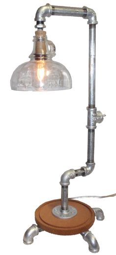 "Repurposed ""Steam Punk"" Pipe Desk Lamp"