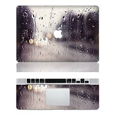 iCasso Rain Protective Full-cover Vinyl Art Skin Decal Sticker Cover for Apple Macbook Pro 13 Inch/13.3-Inch