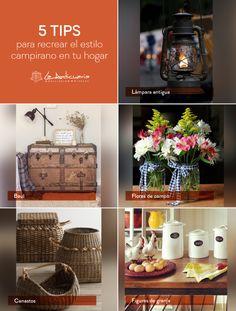 Recrea el estilo campirano en tu hogar. #Anticuaria #Campirano #Diseño