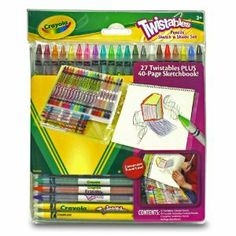 Crayola Pencil Sketch 'N Shade by Crayola. $13.29. Erasable pencils!. Bright vibrant colors!. Twistable format no sharpening needed!. All inclusive portable set for sketching!. Great for On The Go!. From the Manufacturer                Crayola Pencil Sketch 'N Shade provides kids with creative art supplies.                                    Product Description                Help me find creative ways to occupy my childrens time. Provide kids creative experiences f...