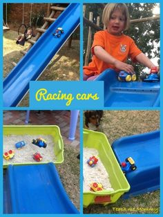 Outside Play: Fun with cars!
