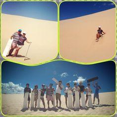 porth stephen nsw sand boarding