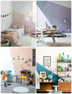 Comment to Win Sweepstakes Kids Bedroom, Bedroom Decor, Kids Rooms, Baby Deco, Modern Home Interior Design, Living Room Green, My Room, Wall Design, Geometric Painting
