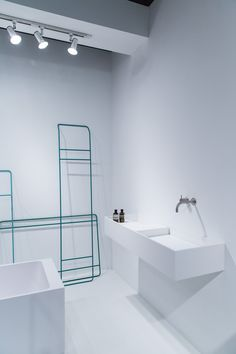 Dutch bathroom design company Not Only White at Interieur 2014 // photo via 70percentpure.be