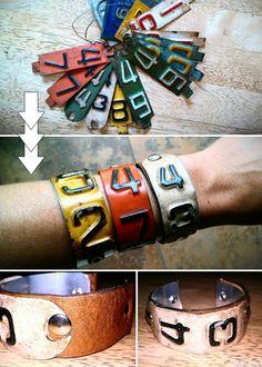 license plate bracelets
