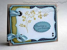 Greeting Card Sympathy Simplicity is Best by JanTink on Etsy, $4.95