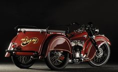 """1941 Indian Dispatch-Tow very rare, came with 45"""" or 74"""" engines. And reverse gear could be ordered."""