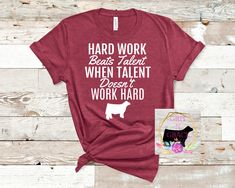 Really soft and comfy tees, sure to be your new favorite! Heather Raspberry Tee with White design. Farm Girl Quotes, Cow Quotes, Fair Quotes, Cute Country Outfits, Country Shirts, Cute Outfits, T Shirts With Sayings, Shirts For Girls, Cool T Shirts