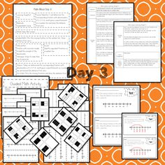 This Representing Fractions teaching unit provides 10 days of instruction Problem Solving Activities, Teaching Activities, Math Lesson Plans, Math Lessons, Fractions, 3rd Grade Math Worksheets, Math Blocks, Data Tracking, Learning Targets