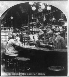 1800's English bar and barmaids, London