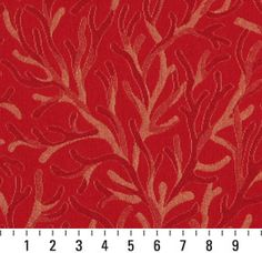 red coral fabric