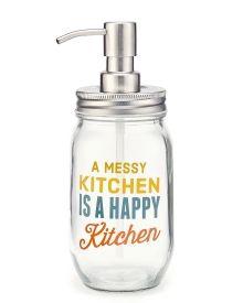 Messy Kitchen Mason Jar Soap Dispenser