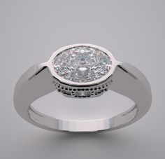 east west oval engagement rings