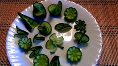 10 LIFE HACKS HOW TO MAKE CUCUMBER FLOWER GARNISH DESIGN & ART IN CUCUMB...