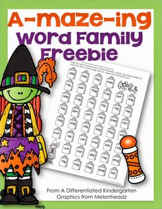 Everyone needs a little Halloween Freebie!  This one is a trick or treating word family fun dot maze.