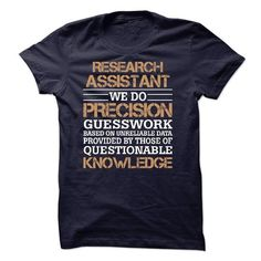 RESEARCH ASSISTANT SHIRT 2015 - #funny gift #couple gift. MORE INFO => https://www.sunfrog.com/No-Category/RESEARCH-ASSISTANT-SHIRT-2015.html?68278