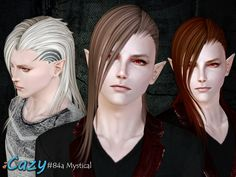 Gift~ Hairstyle for Male (and Female as bonus), teen~elder Can be found under Hat category Morphs (Male) and All LOD included 3 Variations : 1. Plain. 2. Overlay original tattoo. 3. 3 Channels recolorable tattoo (Shine, Half Back, All). Download: Dropbox