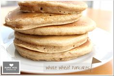 NATIONAL PANCAKE DAY (sept 26th) whole wheat pancakes {mama♥miss}