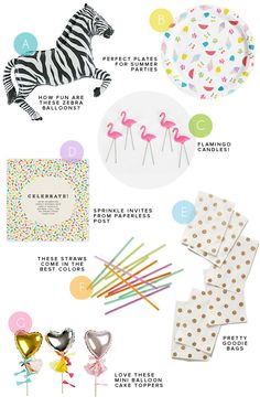Supplies for my Party Closet | Oh Happy Day!