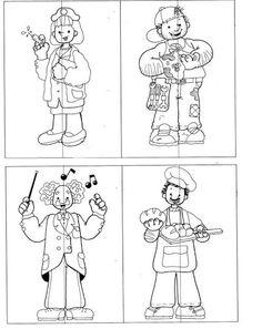 Dibujos para colorear de oficios para ni os servidores for Actividades para jardin de infantes para imprimir