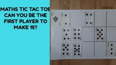 Maths Tic Tac Toe (Noughts and crosses) Math 4 Kids, School Closures, Can You Be, Tic Tac Toe, Working With Children, Maths, Crosses, Card Games, Education