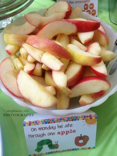Project Nursery - The Very Hungry Caterpillar Apples Food Label Card