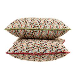 Carolyn Donnelly Eclectic Geo Multi Spot Cushion Bold Colors, Colours, Geo, Living Spaces, Cushions, Texture, Design, Bright Colors, Cushion