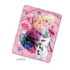 Frozen Anna Elsa Disney Blanket Soft Kids Cover Gift Girls Rose Pink Olaf Freez