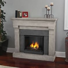 portable fireplace heater mantle- real flame gel fireplace